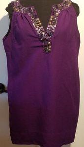 New York and Company  tunic purple L
